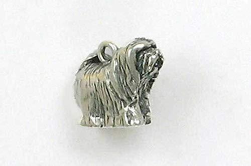 - Pendant Jewelry Making/Chain Pendant/Bracelet Pendant Sterling Silver 3-D Lhasa Apso Dog Charm