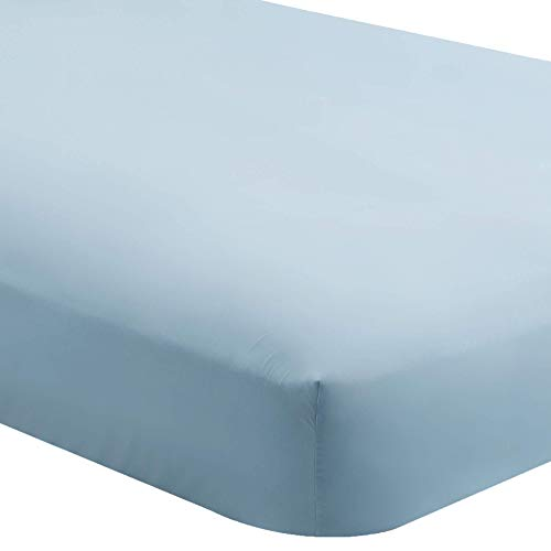 (Bare Home Fitted Bottom Sheet Twin - Premium 1800 Ultra-Soft Wrinkle Resistant Microfiber - Hypoallergenic - Deep Pocket (Twin, Light Blue))