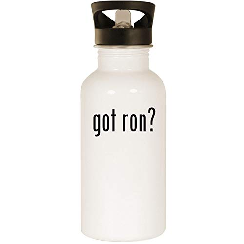 got ron? - Stainless Steel 20oz Road Ready Water Bottle, White