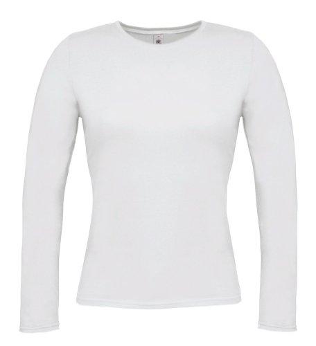 B&C Damen Langarm T-Shirt Women-Only Women-Only LSL White L