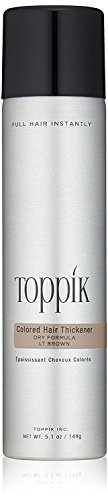 TOPPIK Colored Hair Thickener, Light Brown, 5.1 oz.]()