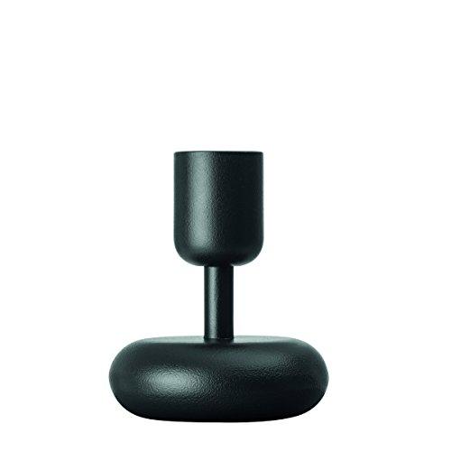 Candle Iittala Holder (Iittala Nappula Dark Grey Candle Holder, 4.25