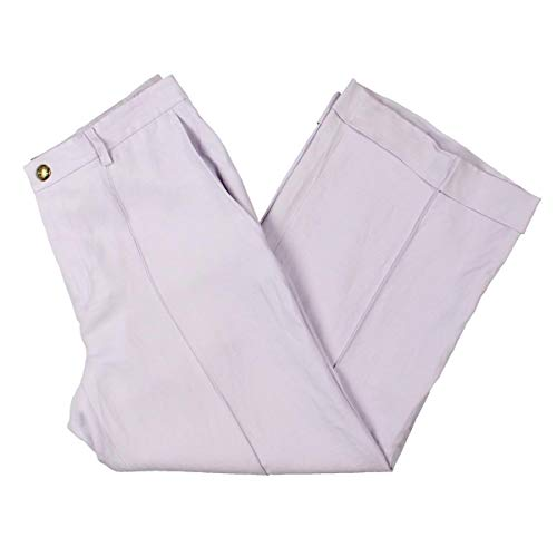 (Lauren Ralph Lauren Womens Winsey Linen Blend Wide Leg Pants Purple 10)