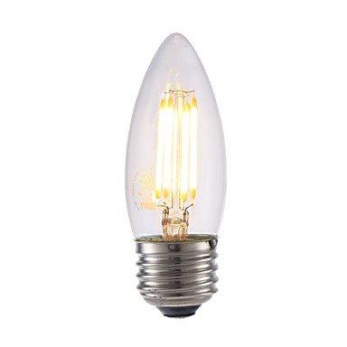 yyhaoge 1pieza 3,5 W 350 lm E26 LED Bombillas de filamento B10 4 ledes