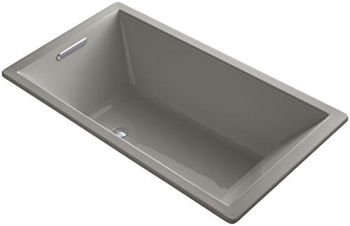 UPC 885612318442, KOHLER K-1173-GVB-K4 Underscore Drop-In VibrAcoustic Plus BubbleMassage Air Bath with Reversible Drain, 66 x 36-Inch, Cashmere
