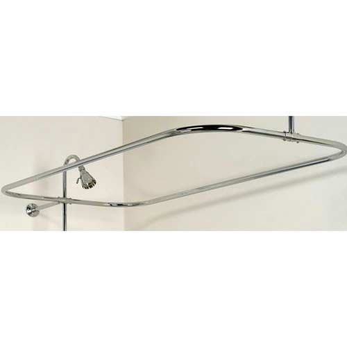 Barclay 4150-54-CP Rectangular Shower Rod, Polished, Chrome