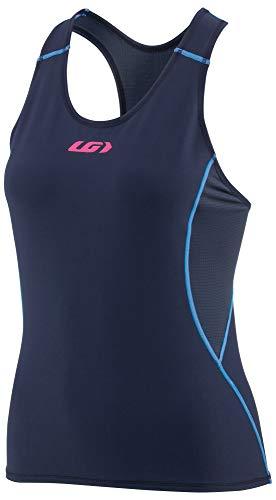 Louis Garneau Women's Tri Comp Lightweight, Moisture Wicking, Sleeveless Triathlon Bike Top, Navy/Blue/Pink, Small