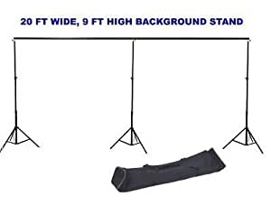 Amazon Com Cowboystudio 20 Ft Wide 9 Ft High Background Backdrop Stand With Detachable