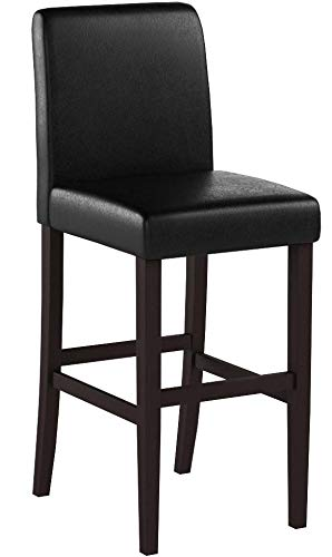 Bar Height Parson Stools Dark Brown and Walnut (Set of 2)
