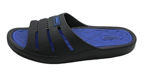 Ciabatte Sandalo Da Spiaggia Con Soffietto E Soffici Ciabatte Da Uomo, Nere / Nere