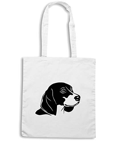 Bianca BREED FACE Shopper A Speed DOG WES0595 BEAGLE Shirt Borsa OF qwfSxtz6Zp