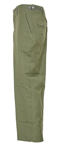Army Surplus Wool Pants (Military Field Trousers, 100% Wool - Olive Drab - Army Issue (Small Long))
