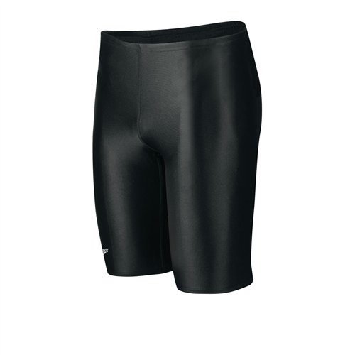 Speedo Men's PowerFLEX Eco Solid Jammer Swimsuit - Black, 30(M)
