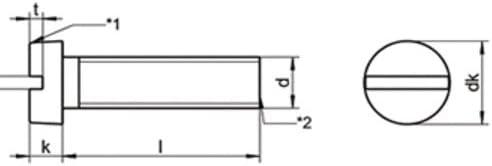 DIN 84 A2 M 3.5X6 Zylinderschraube m Schlitz EDELSTAHL A2 V2A 50 Stk