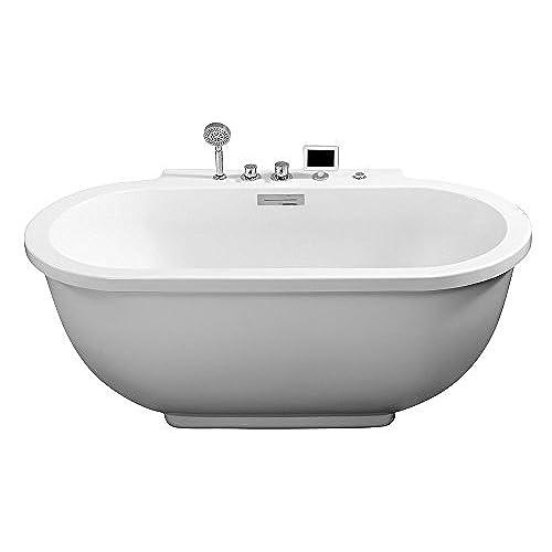 stand alone whirlpool tub. ARIEL Platinum AM128JDCLZ Whirlpool Bathtub Freestanding Tub  Amazon Com