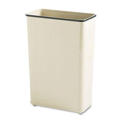 24-Gal. Rectangular Steel Wastebasket [Set of 3] Color: Almond
