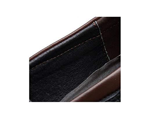 Formale da Scarpe Punta della zmlsc Fibbia Fondo Cuoio in Piatto Cotone Vestono A Cintura con Casual Rotondo Uomo Giovent Morbido di Le Abbigliamento qxxCw48ng