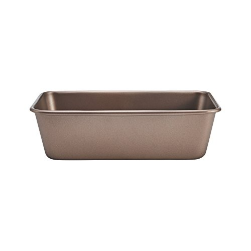 Chicago Metallic 5212093 Elite Non-Stick Carbon Steel Loaf Pan, 9-Inch-by-5-Inch, Bronze (Pan Commercial Loaf)