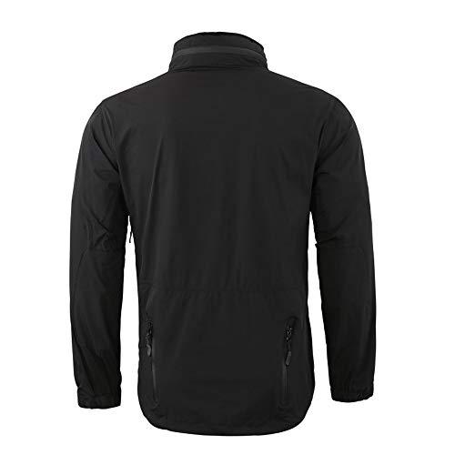 Sport Veste De Hommes Chaud À Pour Capuchon Extérieure Uniforme Capuche Manteau Avec En Noir Velours Malloom gwqx474
