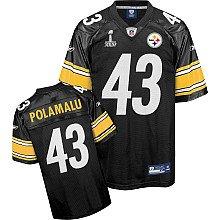 Reebok Pittsburgh Steelers Troy Polamalu Super Bowl XLV Replica Jersey Large ()