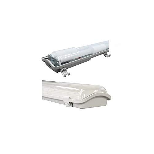 Vision-el Boitier Etanche LED avec 2 Tubes T8 1500 mm Ph//neutre m/ême c/ôt/é
