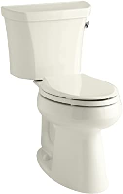 Kohler K-3889-RA-96 Highline Comfort Height 1.28 gpf Toilet, 10-inch Rough-In, Right-Hand Trip Lever, Biscuit
