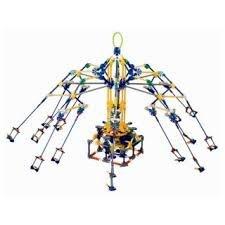 Loz 2027 Amusement Park Game Machine Rotary Swing Roller Coaster 853Pcs