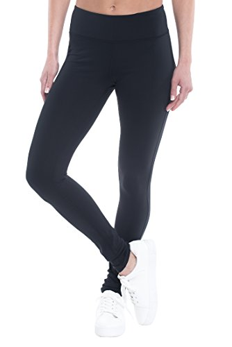 Gaiam Om Yoga Womens Legging Performance Compression Full Length Pant – Black Tap, XX-Large