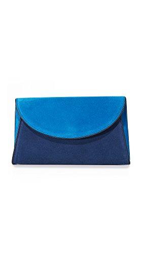 Diane von Furstenberg Women's Evening Clutch, Tile Blue/Midnight/Black, One Size
