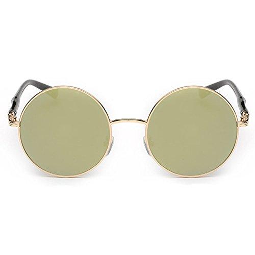 Soleil Ronde Hibote Gold De Style Summer or Vintage Lunettes Femme qnPYPIwr