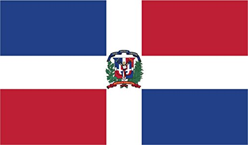 - 2-Pack Dominican Republic Flag Decal Sticker | 5-Inches By 3-Inches | Premium Quality Vinyl | PD418