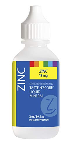 (Taste N' Score | Zinc | Liquid Mineral Supplement & Assessment Kit | Easy to Mix into Drinks & Smoothies | 100% Pure Minerals, No Preservatives | 2 oz)