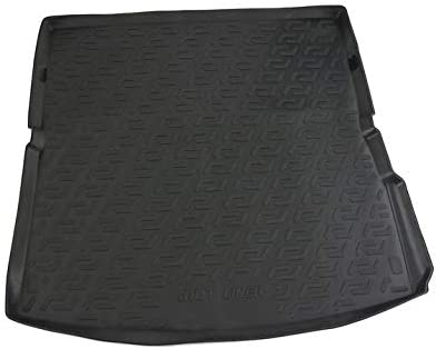 V-MAXZONE PARTS Black Rubber Trunk Cargo Liner Floor Mat Mats VM329 Tray Carpet Mud Guard Cover Protector All Weather Car Accessories Compatible with Audi Q7 4L 2006 2007 2008 2009 2010
