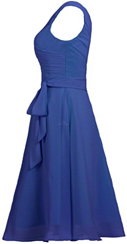 Royal Chiffon Short Women Tank V Neck Blue ANTS with Dresses Sash Prom Bridesmaid s 7qZR1Wcg