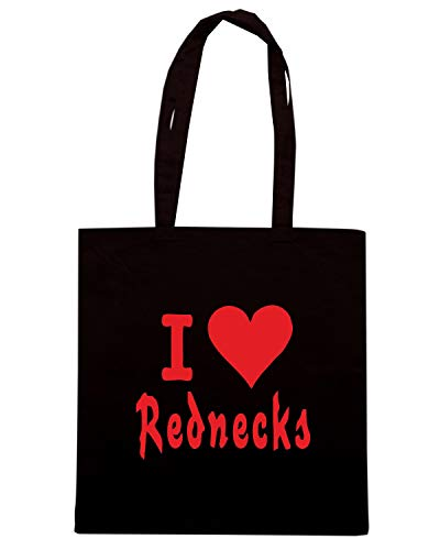 Borsa Shopper Nera FUN0403 982 LOVE REDNECKS 01883