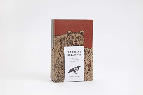 Woodland Creatures: A 10 Notebook Set (Blackbird Letterpress)
