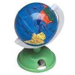 2 Globe Earth Pencil Sharpeners School Gift