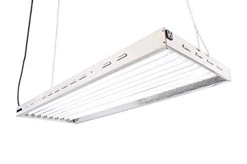 Durolux DL8048 T5 Florescent 4 Foot 8 Lamps with 6500K and 40000 Lumen Grow Light System 8 Tubes Included