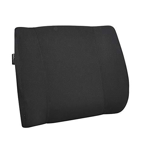 AmazonBasics - Almohada viscoelastica con apoyo lumbar, negra, con paneles
