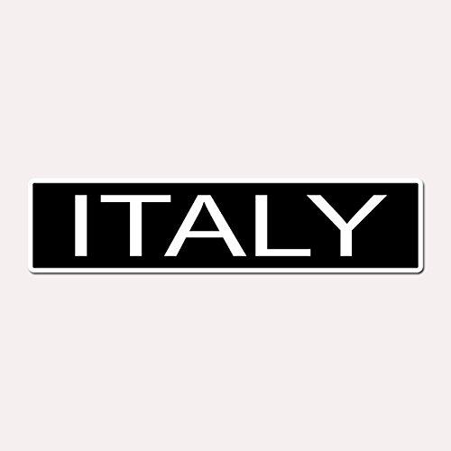 ITALY - Italian Country Pride Black Vinyl on White - 4X17 Aluminum Street Sign