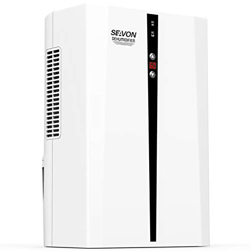 SEAVON Electric Dehumidifier for Home, 2000 Cubic Feet(336 sq ft) MD-898 2000ml (68 oz) Capacity, Quiet Safe Dehumidifiers for Apartment, Bedroom, Bathroom, RV, Closet, Auto Shut Off