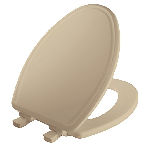 MAYFAIR Toilet Seat will Slow Close, Never Loosen and Easily Remove, ELONGATED, Durable Enameled Wood, Bone, 148SLOWA 006