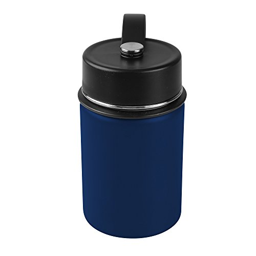 Tahoe Trail Double Wall Vacuum Insulated Stainless Steel Water Bottle (dark blue, 12 oz)