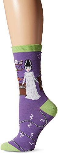 K. Bell Women's Novelty Halloween Crew, Purple Halloween Bride, 9-11