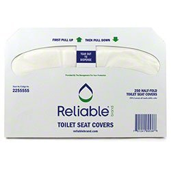Reliable White 1/2 Fold round Toilet Seat Cover 250 sheets