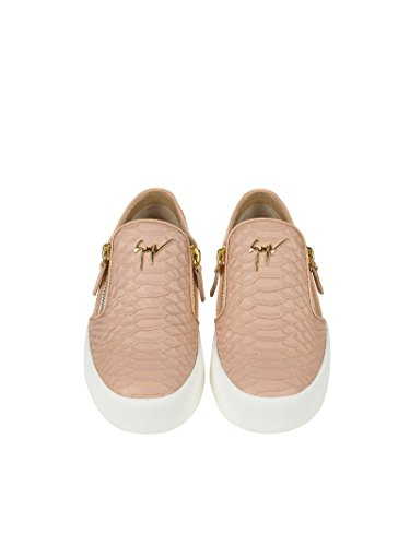 Slip Sneakers ZANOTTI MC Rosa Pelle Donna RS7006001 On DESIGN GIUSEPPE BwEqSAI