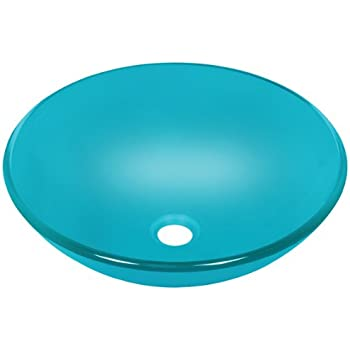 Polaris Sinks P106 Turquoise Coloured Glass Vessel Sink