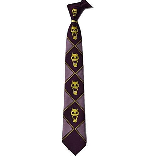Lonme JoJos Bizarre Adventure Neckties Killer Queen Kira Yoshikage Skull Neck Tie Cosplay Costumes