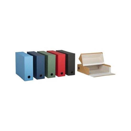 Esselte Adine Canvas Look Box File Dos 90mm Green