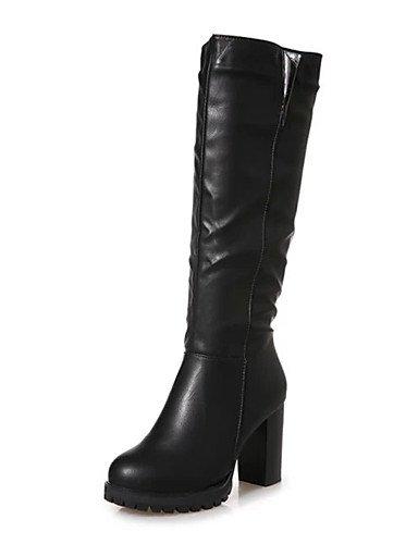 GGX/ Damen / Mädchen-Stiefel-Kleid / Lässig / Party & Festivität-Kunstleder-Blockabsatz-Absätze / Plateau / Komfort / Cowboy / Western Stiefel black-us6.5-7 / eu37 / uk4.5-5 / cn37